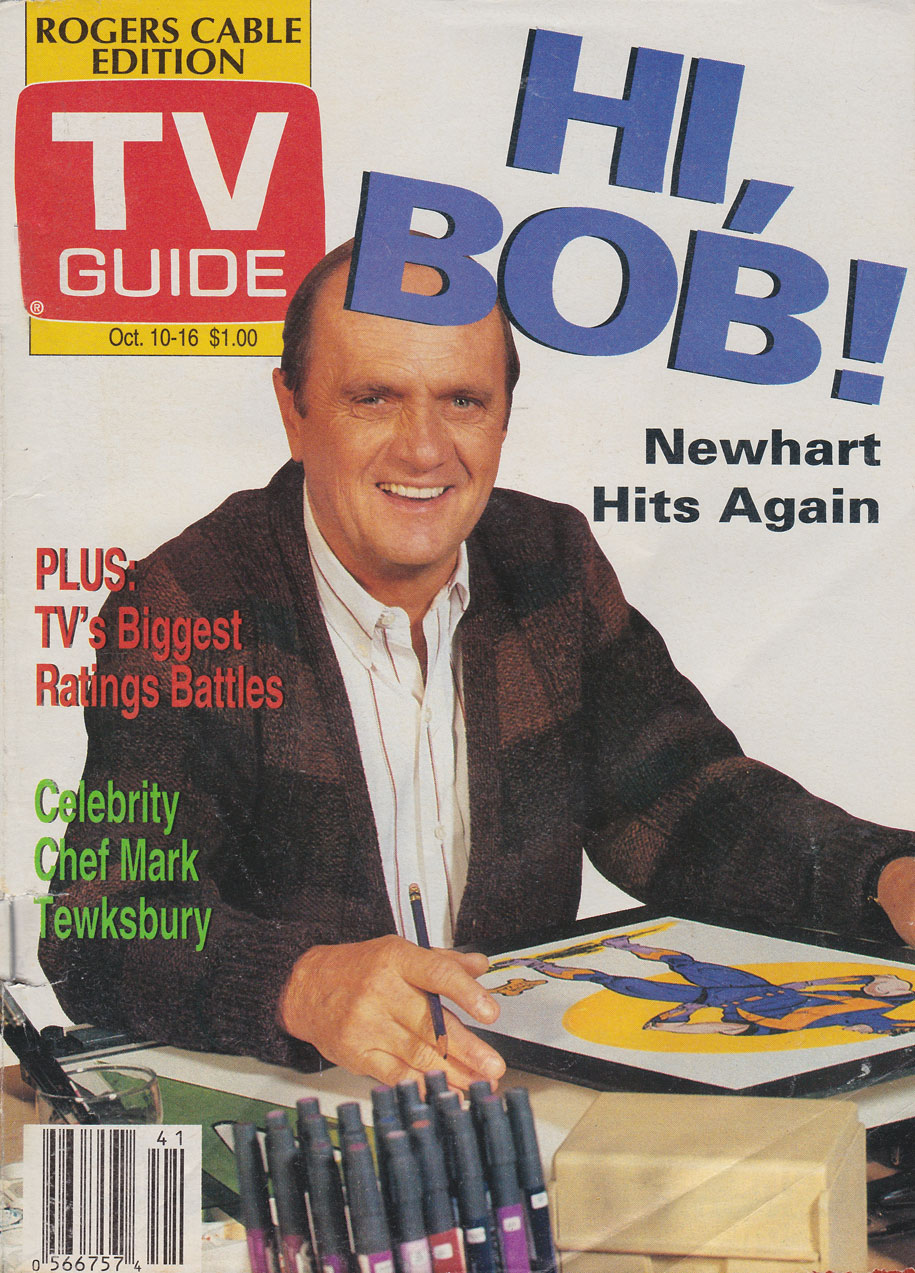 TV Guide October 10 1992 Vancouver Rogers Cable Edition Front Cover
