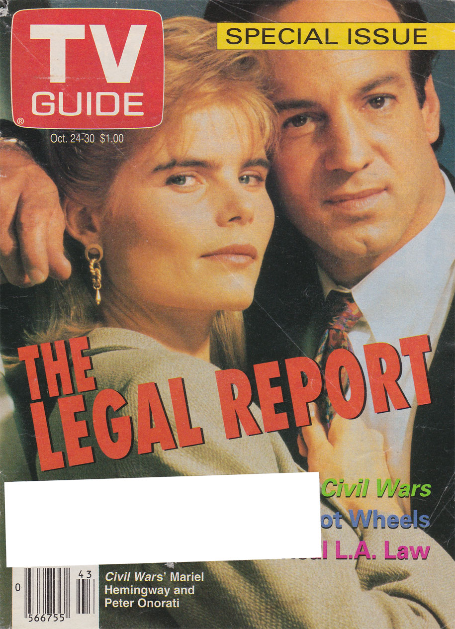 TV Guide October 24 1992 Manitoba Edition Front Cover