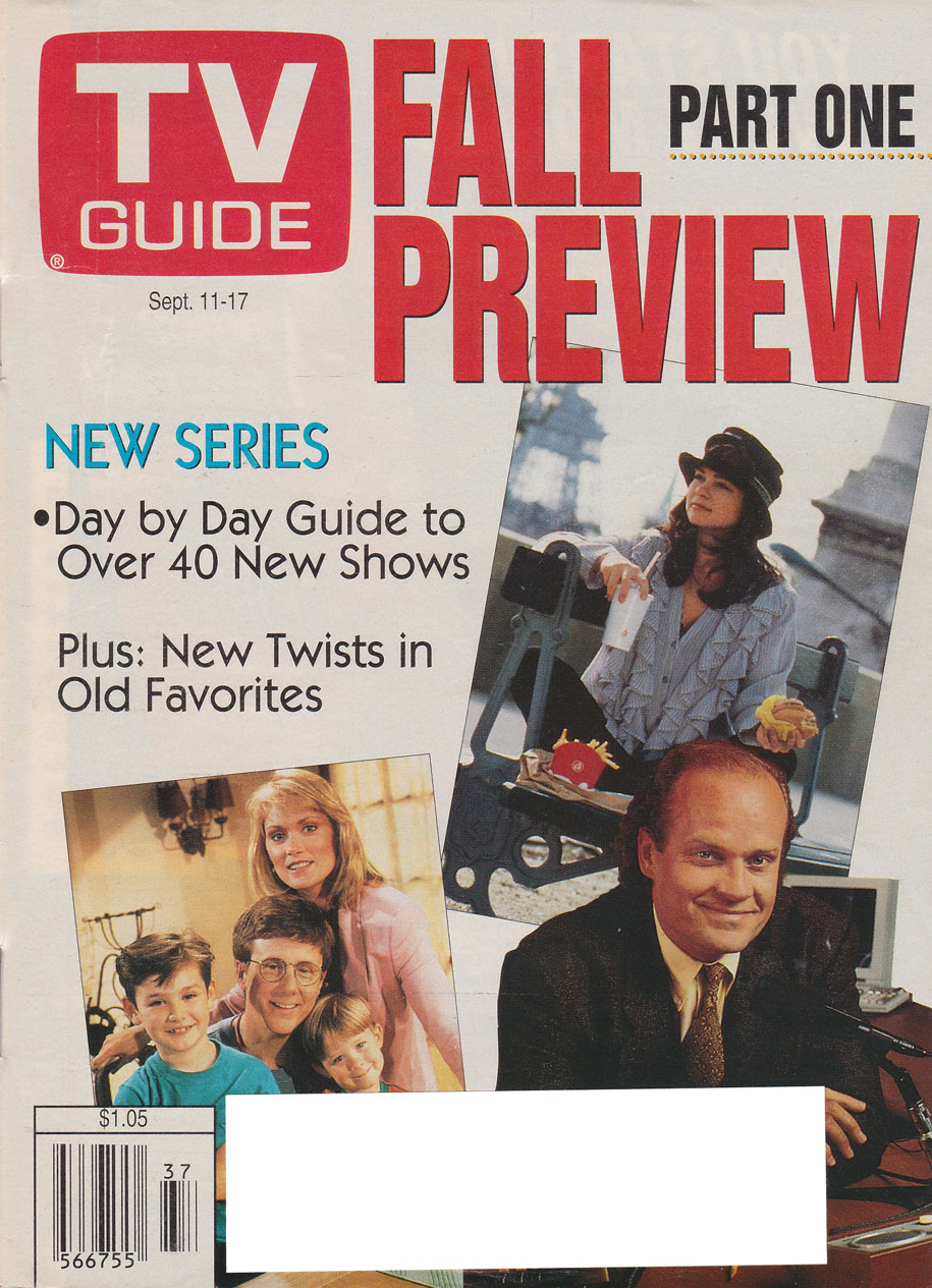 TV Guide September 11 1993 Hamilton & Region Edition Front Cover
