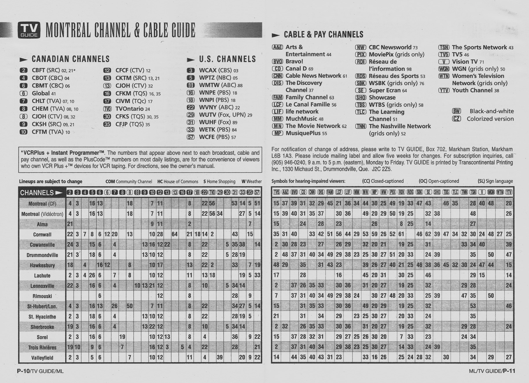 TV Guide September 14 1996 Montreal Edition Channel Guide
