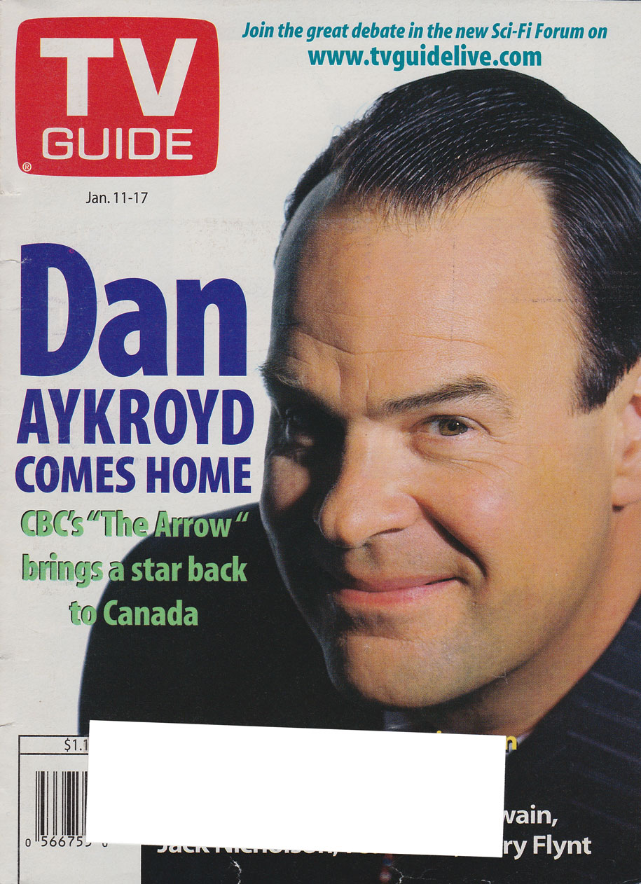 TV Guide January 11 1997 Toronto-Peterborough Edition Front Cover