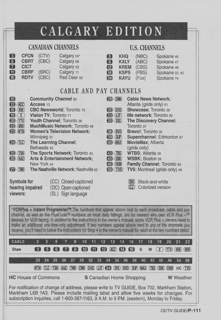 Hd on-screen guide page 6 canadian tv, computing and home.
