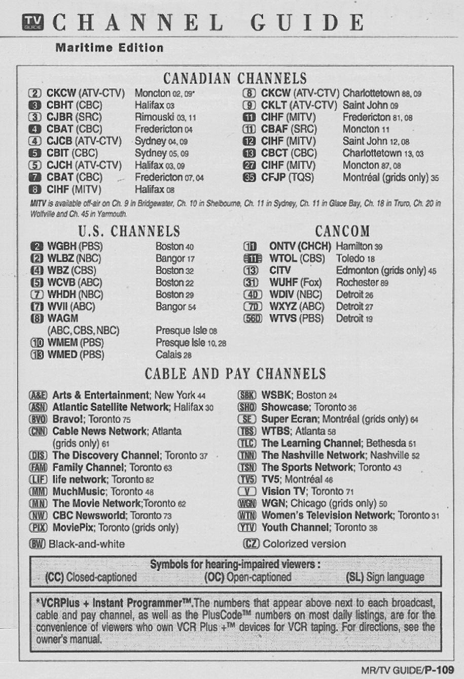 TV Guide July 19 1997 Maritime Edition Channel Guide