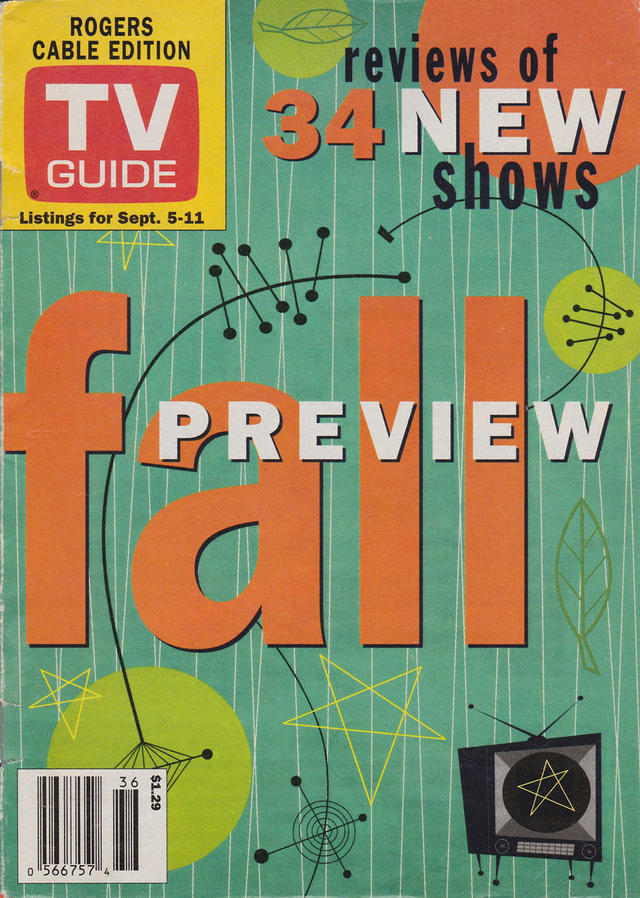 TV Guide September 5 1998 Vancouver Rogers Cable Edition Front Cover