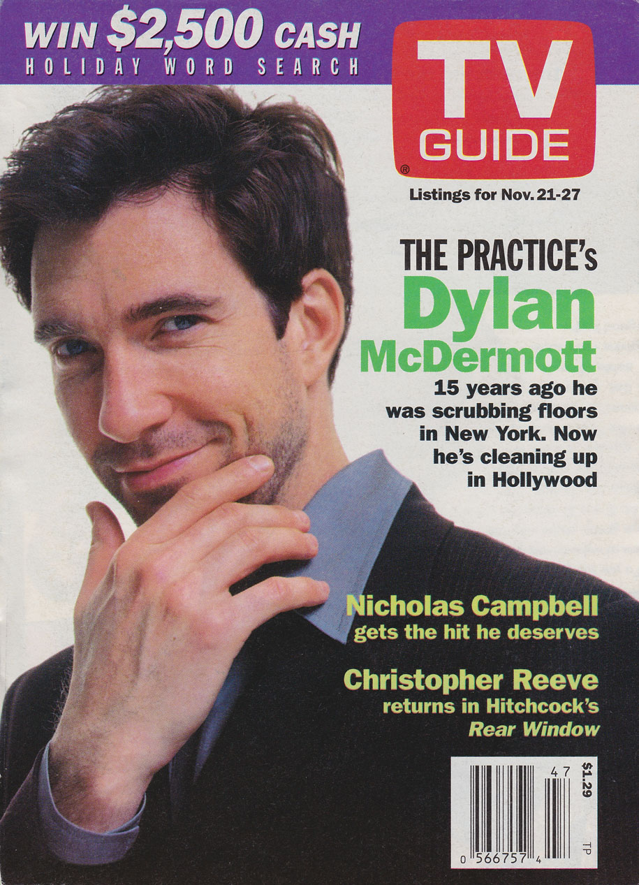 TV Guide November 21 1998 Hamilton & Region Edition Front Cover