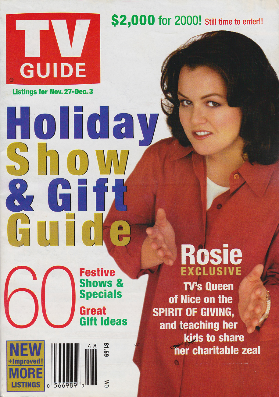 TV Guide November 27 1999 Western Ontario Edition Front Cover
