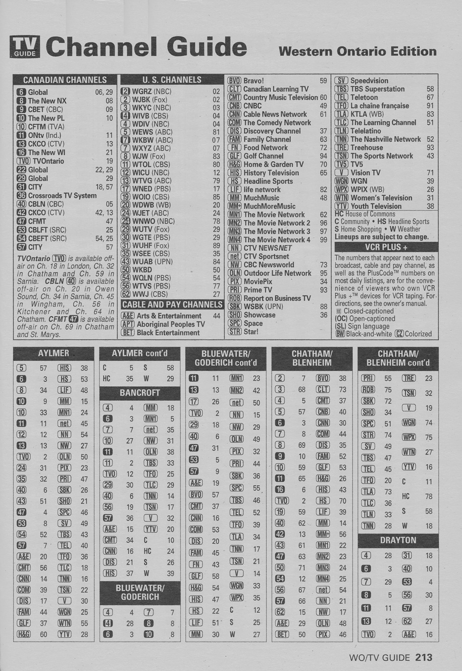 TV Guide November 27 1999 Western Ontario Edition Channel Guide