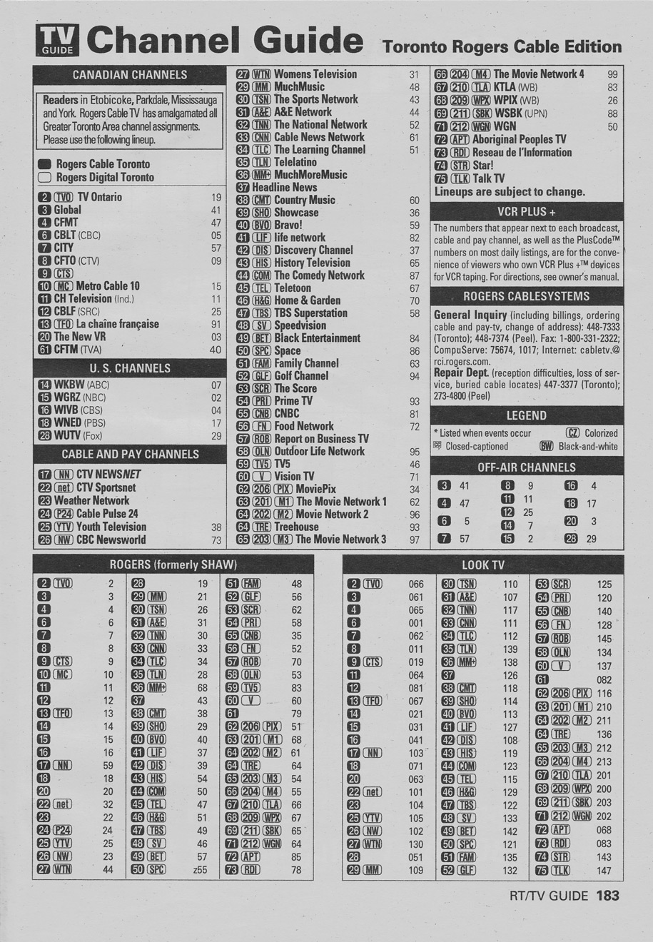 TV Guide January 19 2002 Toronto Rogers Cable Edition Channel Guide