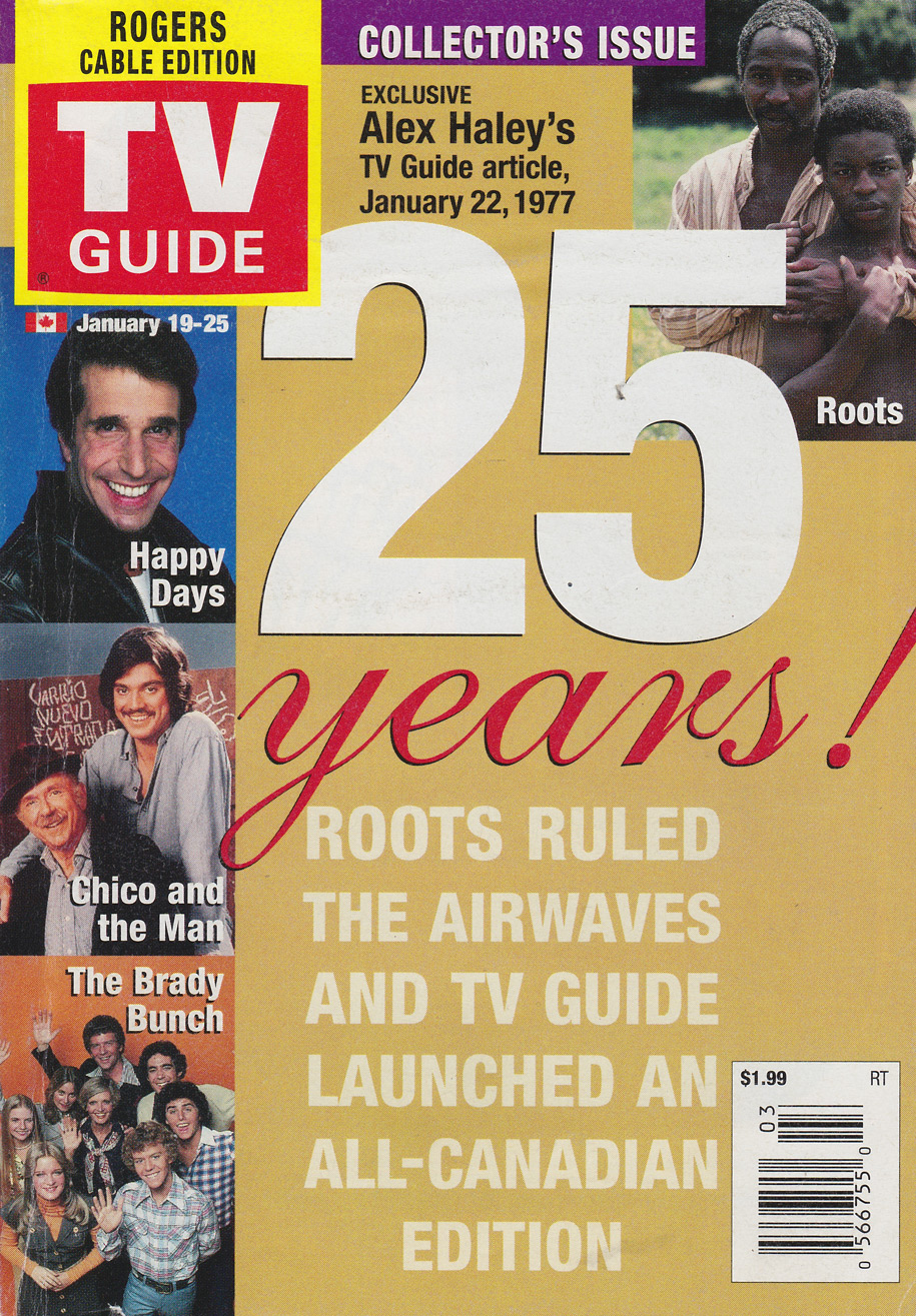 TV Guide January 19 2002 Toronto Rogers Cable Edition Front Cover