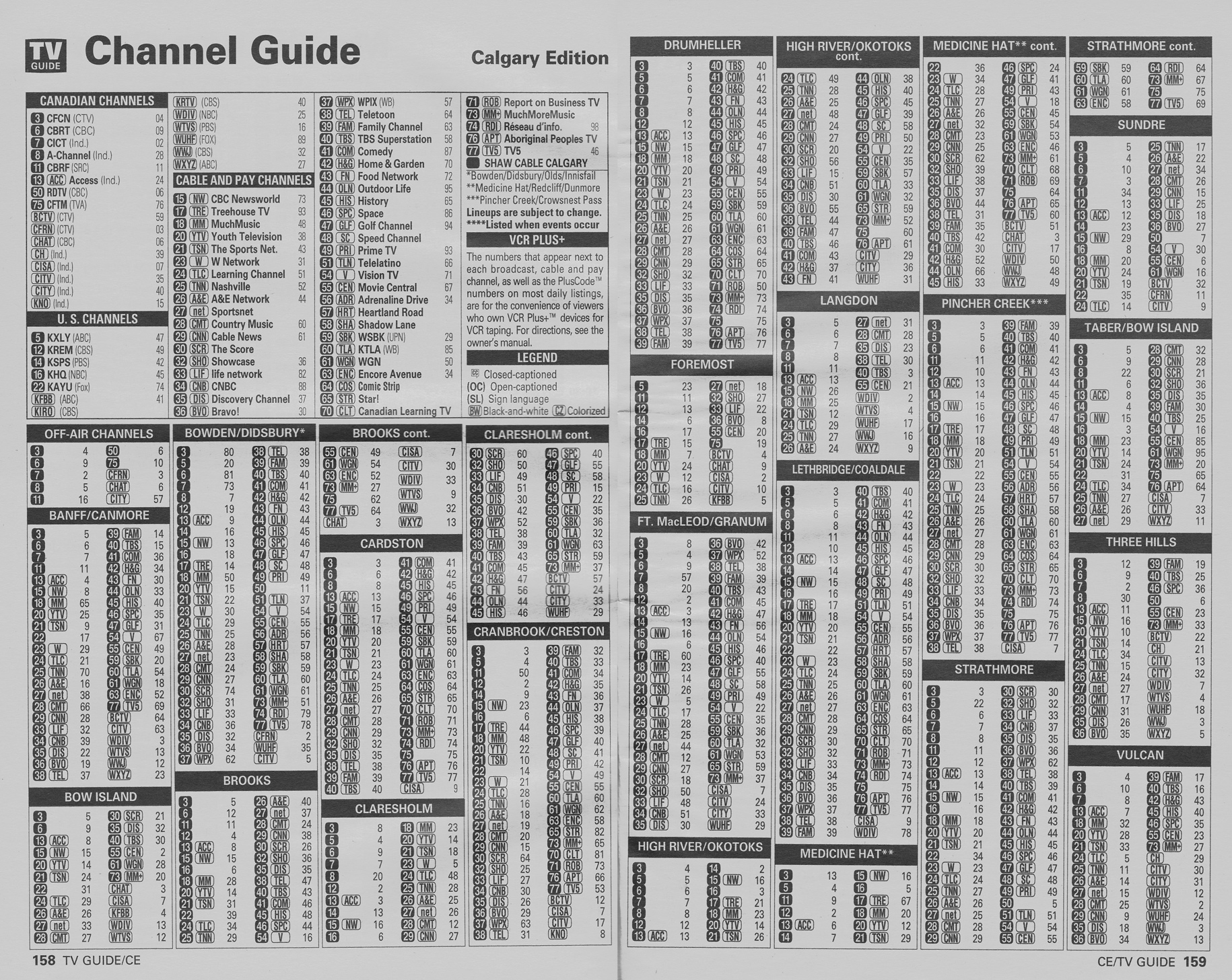 Shaw Direct | Classic Channel Lineup