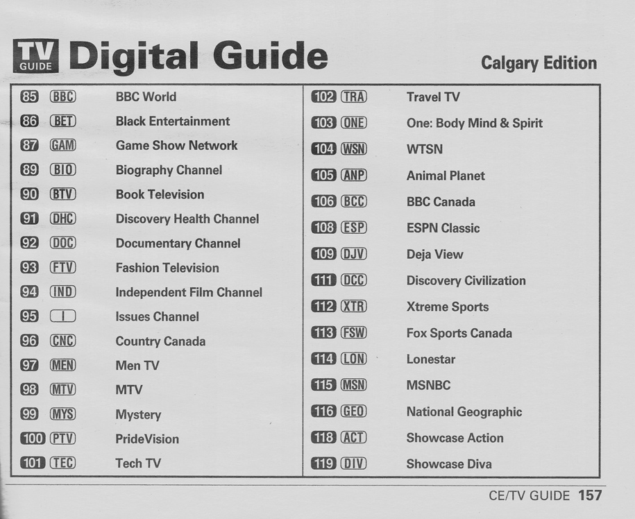 TV Guide August 24 2002 Calgary Shaw-Southern Alberta Edition Digital Guide