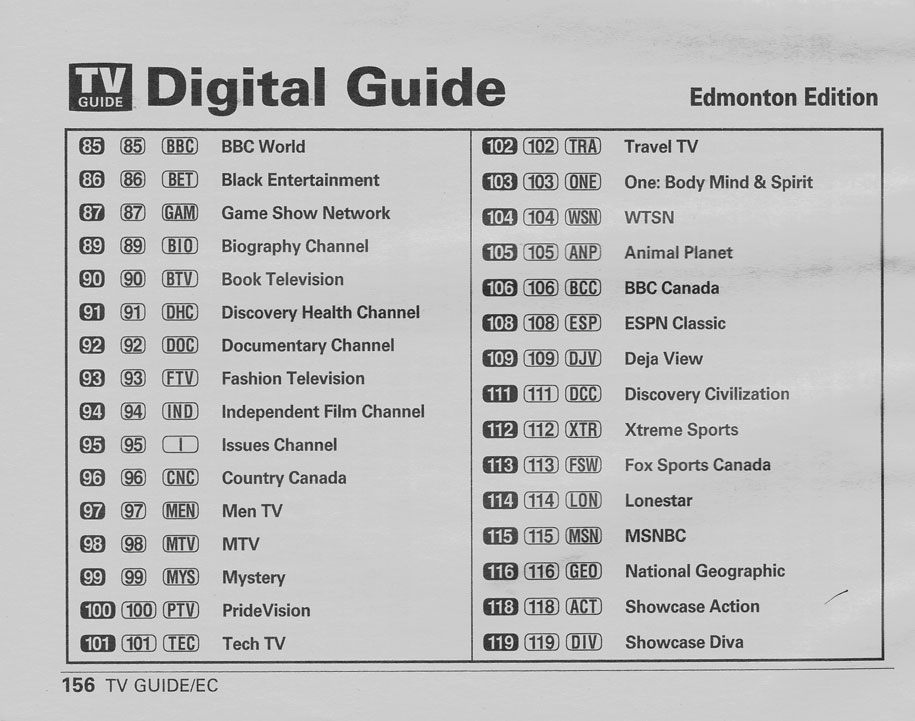 TV Guide August 24 2002 Edmonton Shaw-Northern Alberta Edition Digital Guide