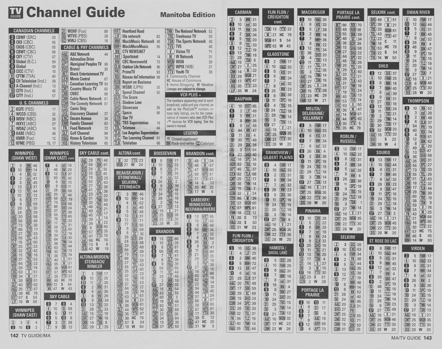 TV Guide August 24 2002 Manitoba Edition Channel Guide