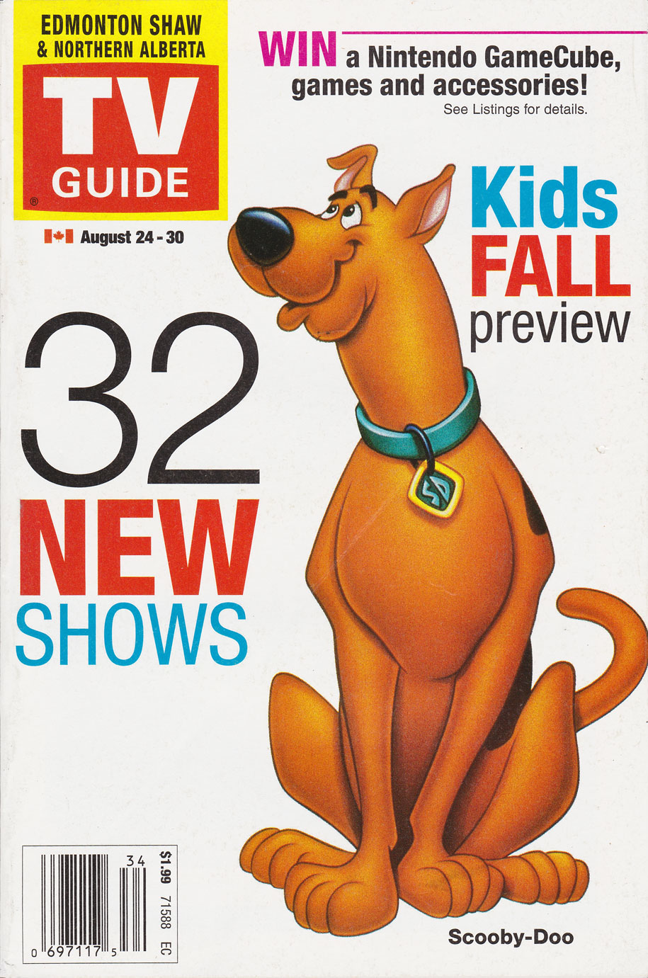 TV Guide August 24 2002 Edmonton Shaw-Northern Alberta Edition Front Cover