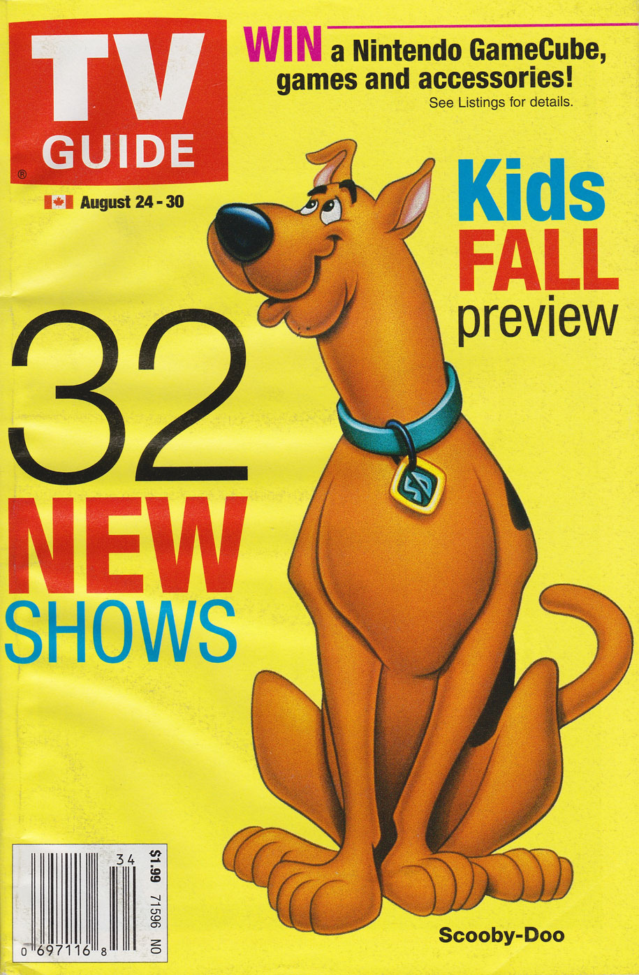 TV Guide August 24 2002 Saskatchewan Edition Front Cover