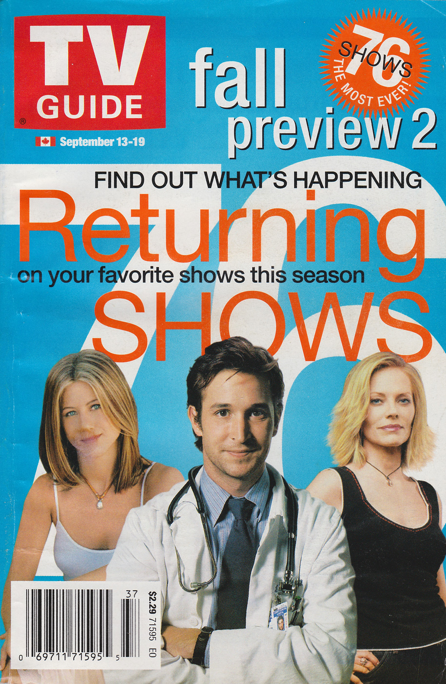 TV Guide September 13 2003 Eastern Ontario Edition Front Cover