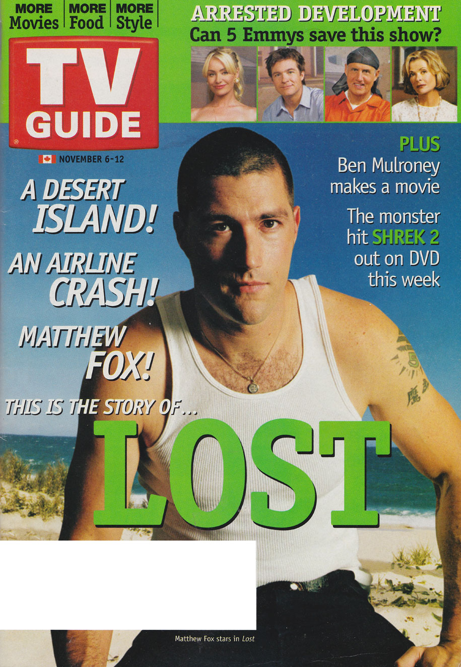 TV Guide November 6 2004 Eastern Ontario Edition Front Cover