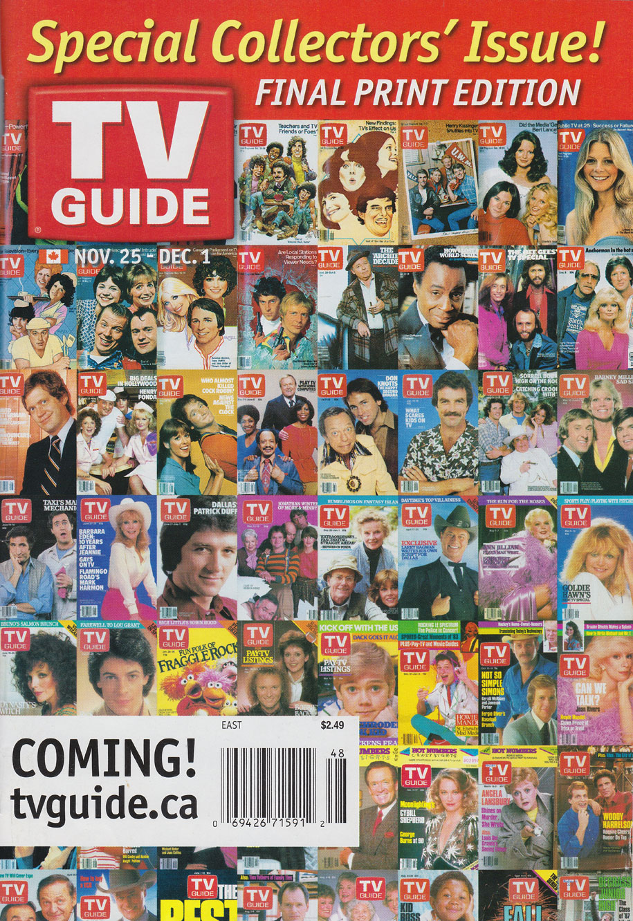 TV Guide November 25 2006 Eastern Canada Edition Front Cover