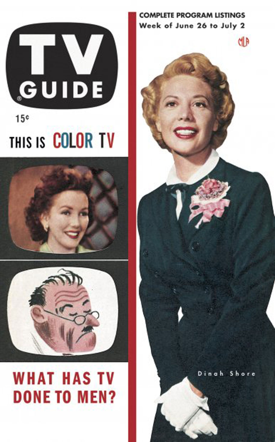 TV Guide June 26 1953 New York-Ontario Edition Front Cover