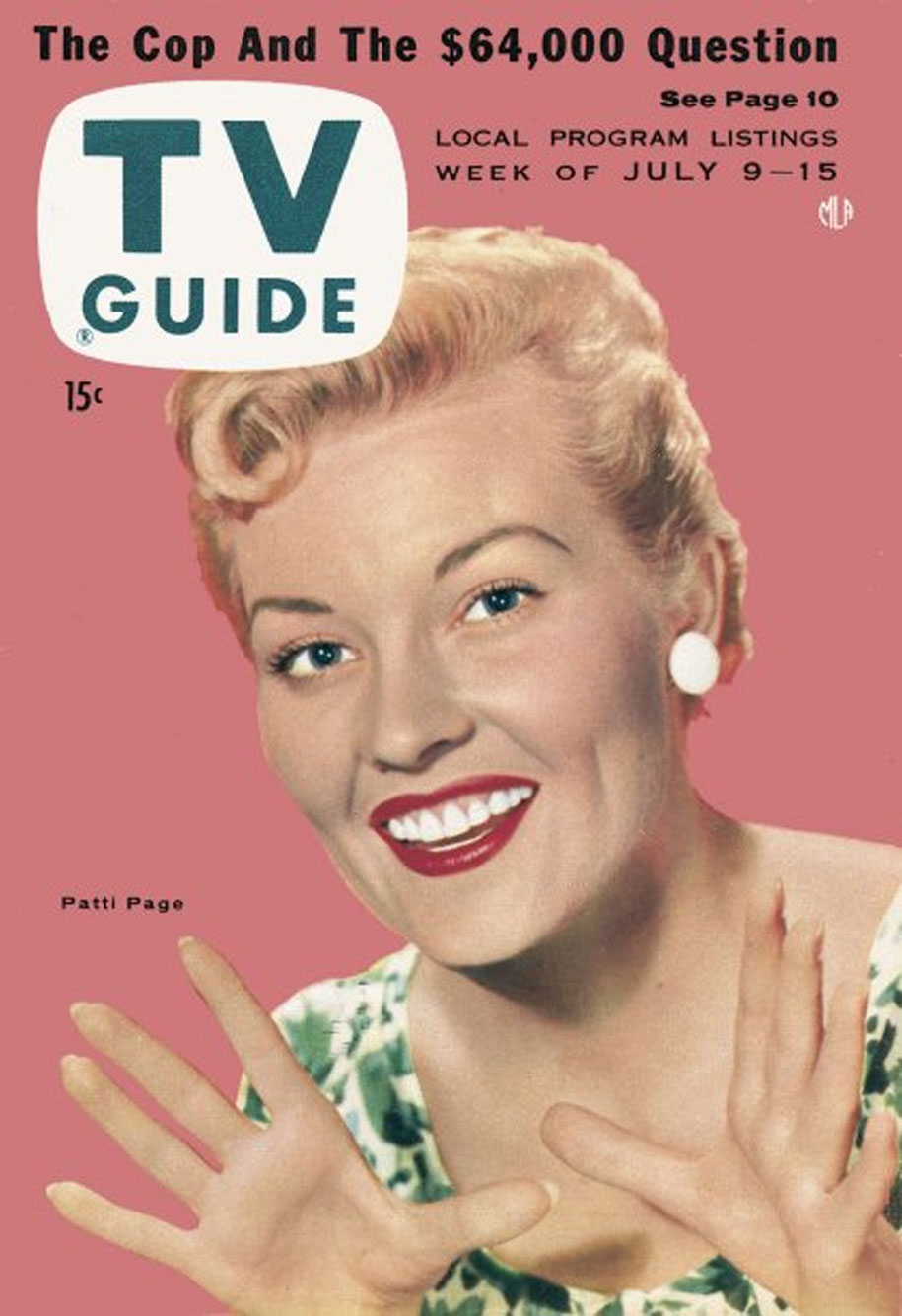 TV Guide July 9 1955 Lake Ontario Edition Front Cover