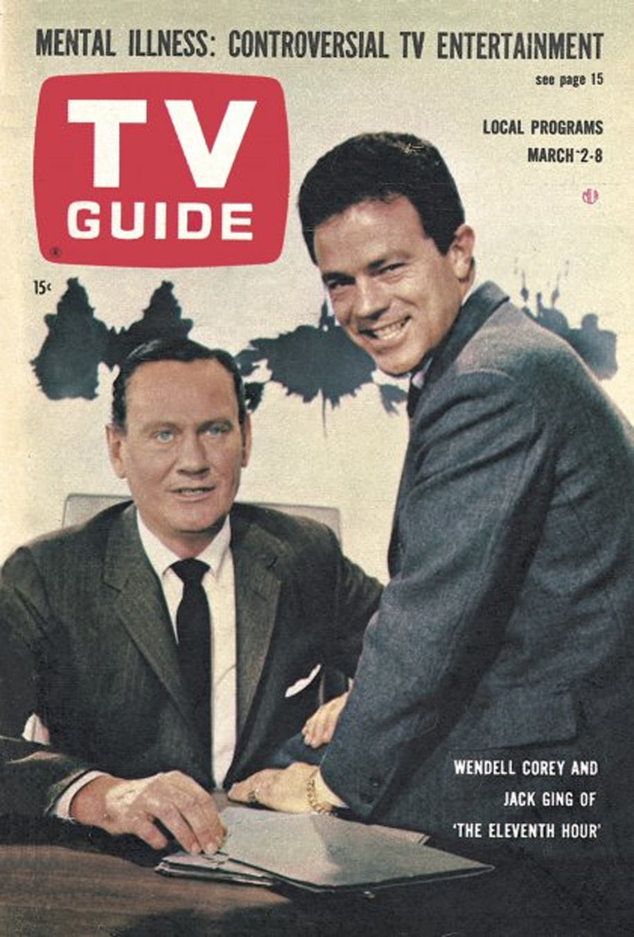 TV Guide March 2 1963 St Lawrence Edition Front Cover