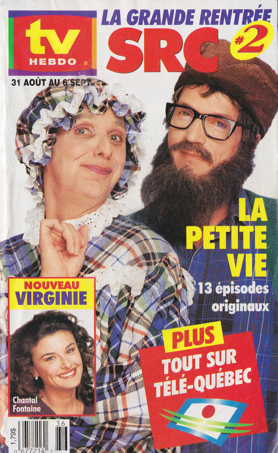 TV Guide August 31 1996 TV Hebdo Édition Nationale Front Cover